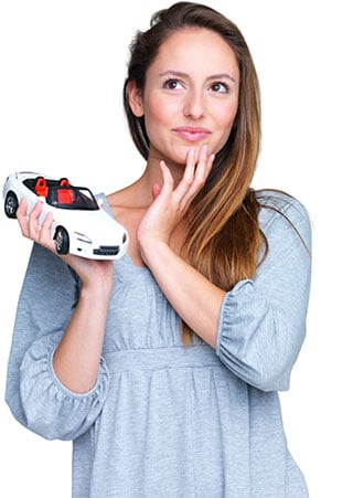 A woman happy with Great Nation Moving's car shipping services.