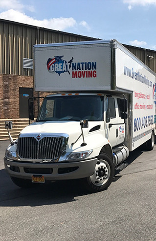 The professional loading container owned by Great Nation Moving for Hawaii