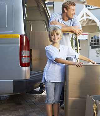 A happy family after their Pennsylvania move, thanks to Great Nation Moving.