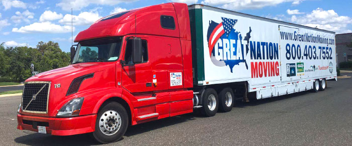 One of the trucks of Great Nation Moving