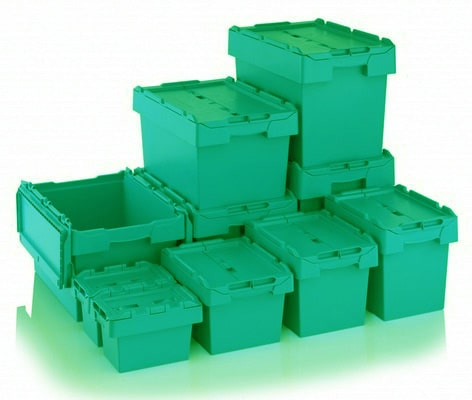 Green ecologically-friendly containers