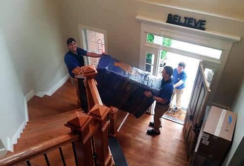 A member of Great Nation's highly experienced piano moving crew.