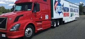 One of our trucks for interstate relocation