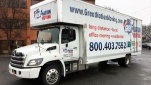 One of our trucks for local moves