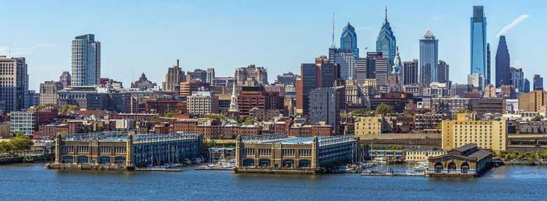 Panoramic picture of Philadelphia